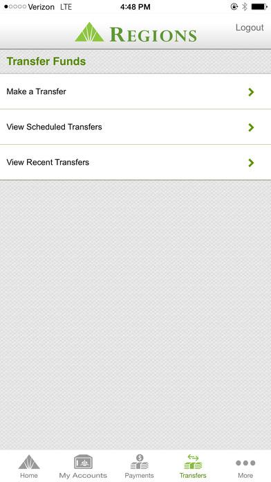 Regions Mobile iPhone Screenshot 3