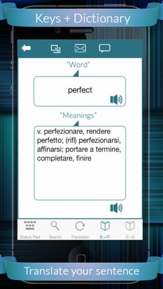 Italian Eng Dic + Keys English to Italian Italian to English