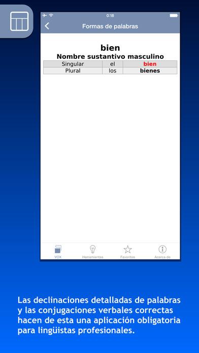 VOX French <-> Spanish Dictionary iPhone Screenshot 5