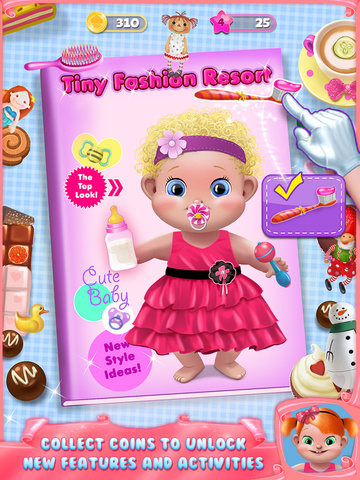 Скачать Tiny Fashion Resort - Cute Dress Up, Face Paint Makeup, Little Designer, Toddler Spa & More