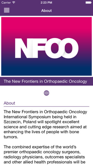 NFOO 2015 SZCZECIN ORTHOPAEDIC ONCOLOGY