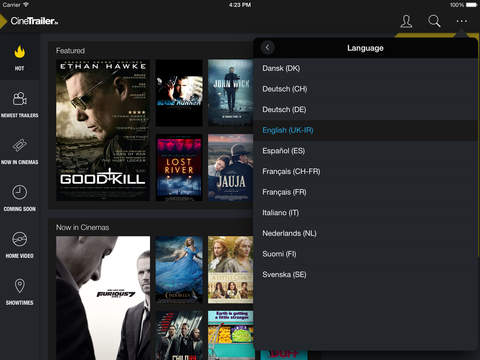 ipad CineTrailer Cinema Screenshot 1