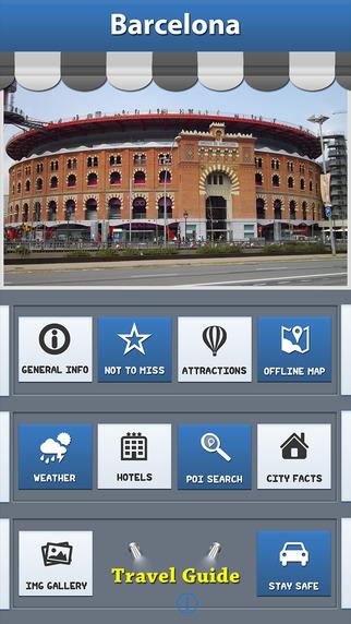 Barcelona Offline Map Travel Explorer