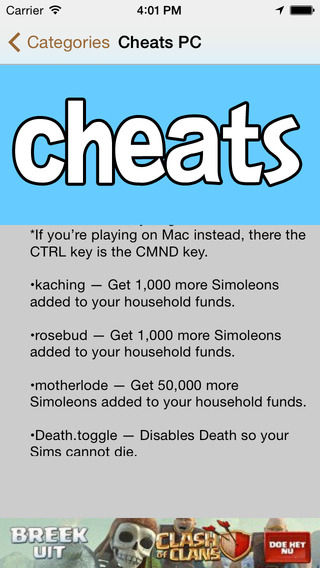 Cheats for Sims 4