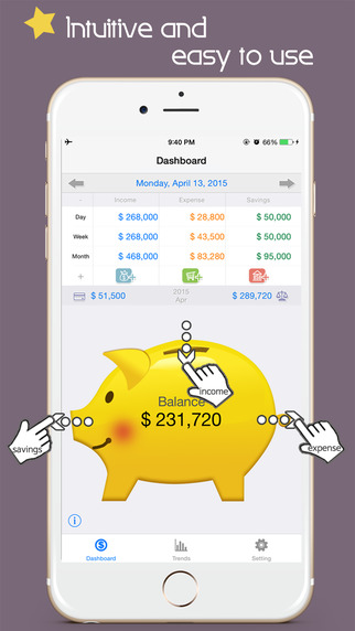 Thumb Money expense tracker - Household accounts b
