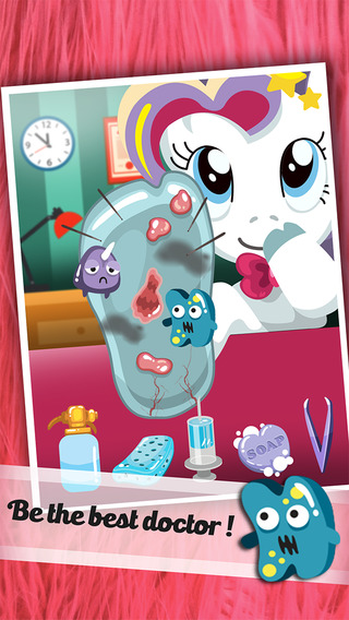 ` Baby Little Pet Pony Foot Doctor ` run health surgery makeover kids beauty Dr. games