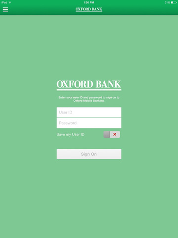 Oxford Bank Trust for iPad