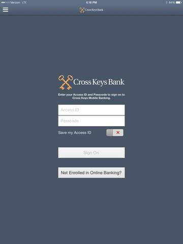 Cross Keys Bank iPad Version
