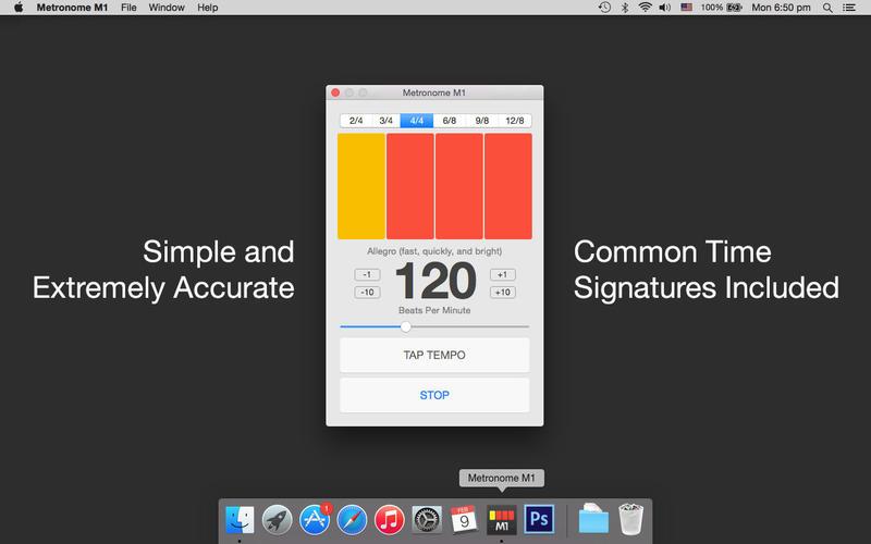 Metronome M1 for Mac 1.2 破解版 – 节拍器M1-爱情守望者