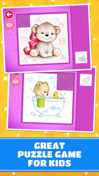Adorable Little Bears Puzzles - Logic Game for Toddlers Preschool Kids Little Boys and Girls: vol.2