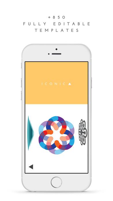 Screenshots of LogoScopic Studio – Logo Maker. for iPhone