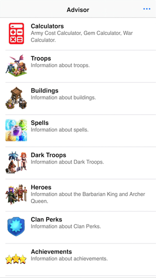 Advisor for Clash of Clans