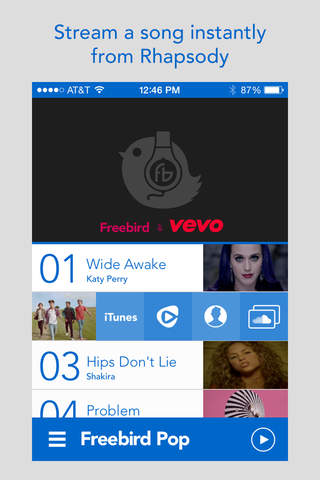 Freebird Pop Music & Video Discovery screenshot 2