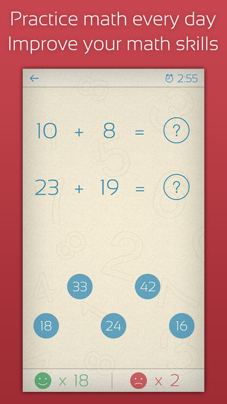 Math Practice 101: Addition subtraction multiplication and division for kids