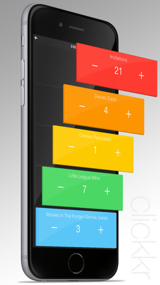 Clickkr 2™ – the tally counter app for people