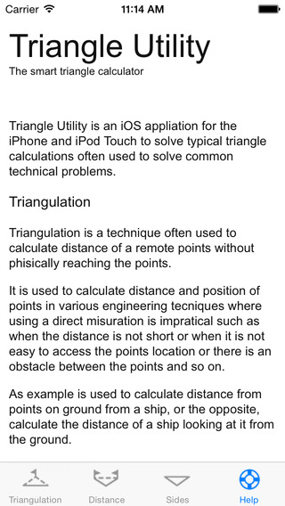 Triangle Utility iPhone Screenshot 5