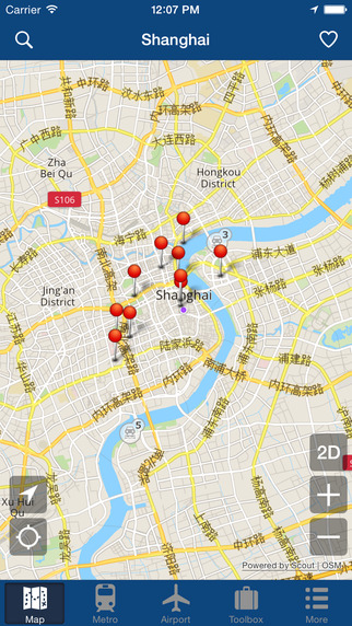 Shanghai Offline Map - City Metro Airport