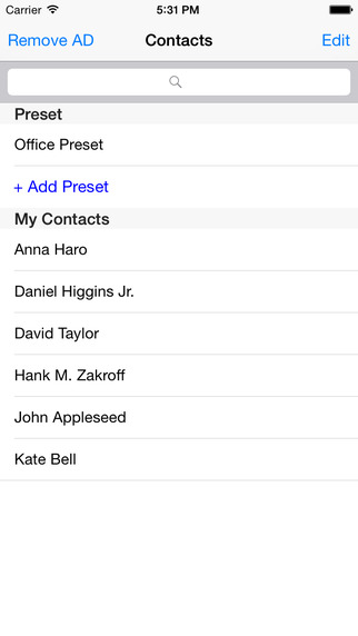 Contact Share - Preset