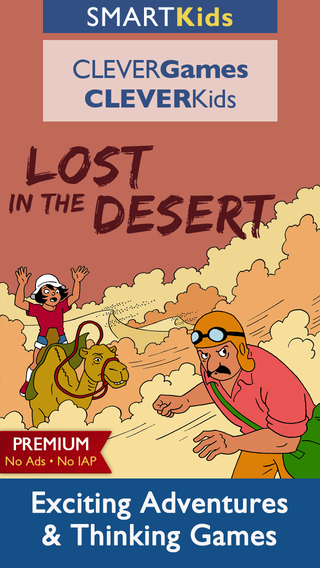 Smart Kids : Lost in the Desert PREMIUM Thinking Puzzle Games and Exciting Adventures App