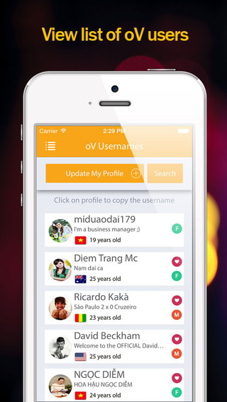 oV now - Find usernames for ooVoo messenger