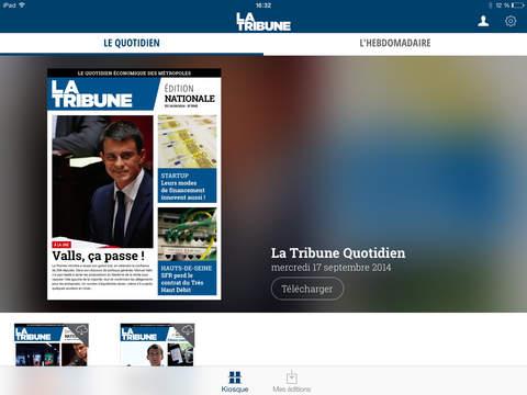 La Tribune pour iPad iPad Screenshot 1