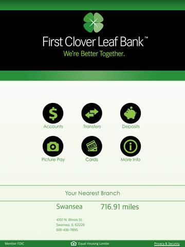 First Clover Leaf Bank iPad