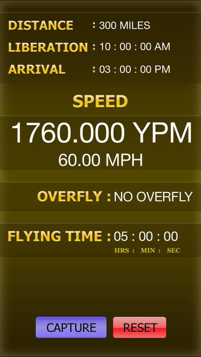 PIGEON RACING SPEED & REALTIME CALCULATOR iPhone Screenshot 4