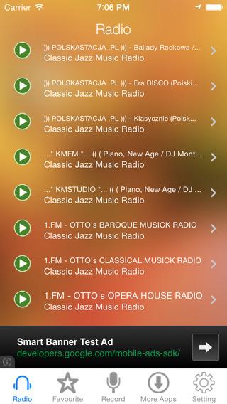 Classic Jazz Music Radio Recorder