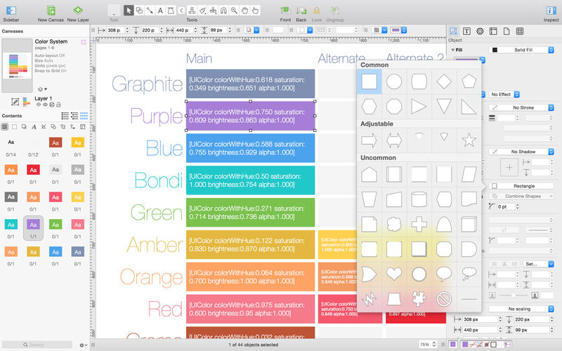 OmniGraffle 6 Screenshots