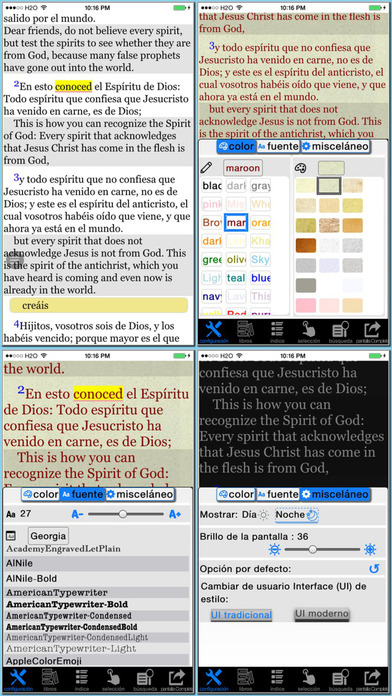 Spanish(Reina Valera)/English reference Bible iPhone Screenshot 1