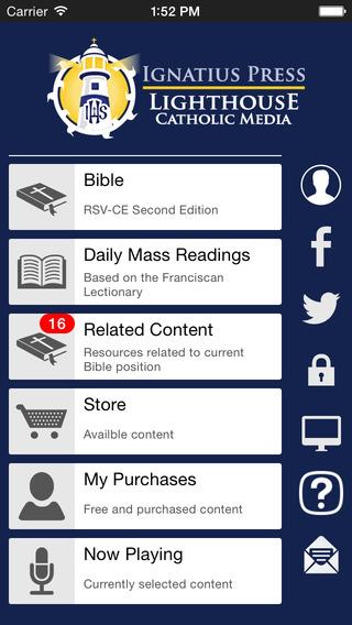 Catholic Study Bible App Ignatius-Lighthouse Edition