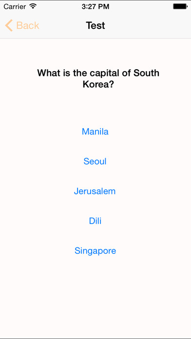 myAsia – Learn the capitals and countries of Asia iPhone Screenshot 4