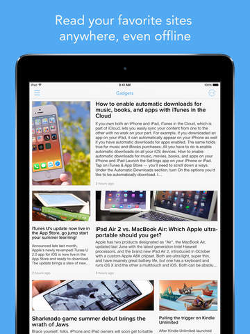 Screenshot 1 Newsify: Your News,  Blog & RSS Feed Reader