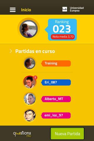 qUEstions PAU screenshot 1
