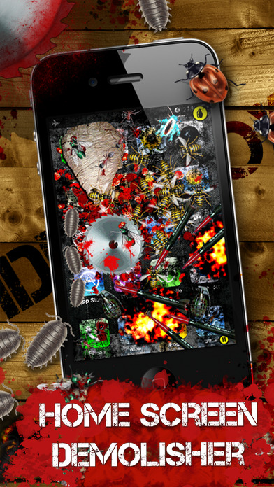 iDestroy Lite - shoot bugs with laser, grenade and guns iPhone Screenshot 2