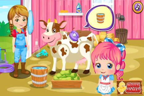 幼儿游戏喂小动物