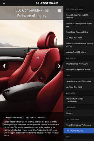 Infiniti - Edmonton Motor Show for iPhone screenshot 3
