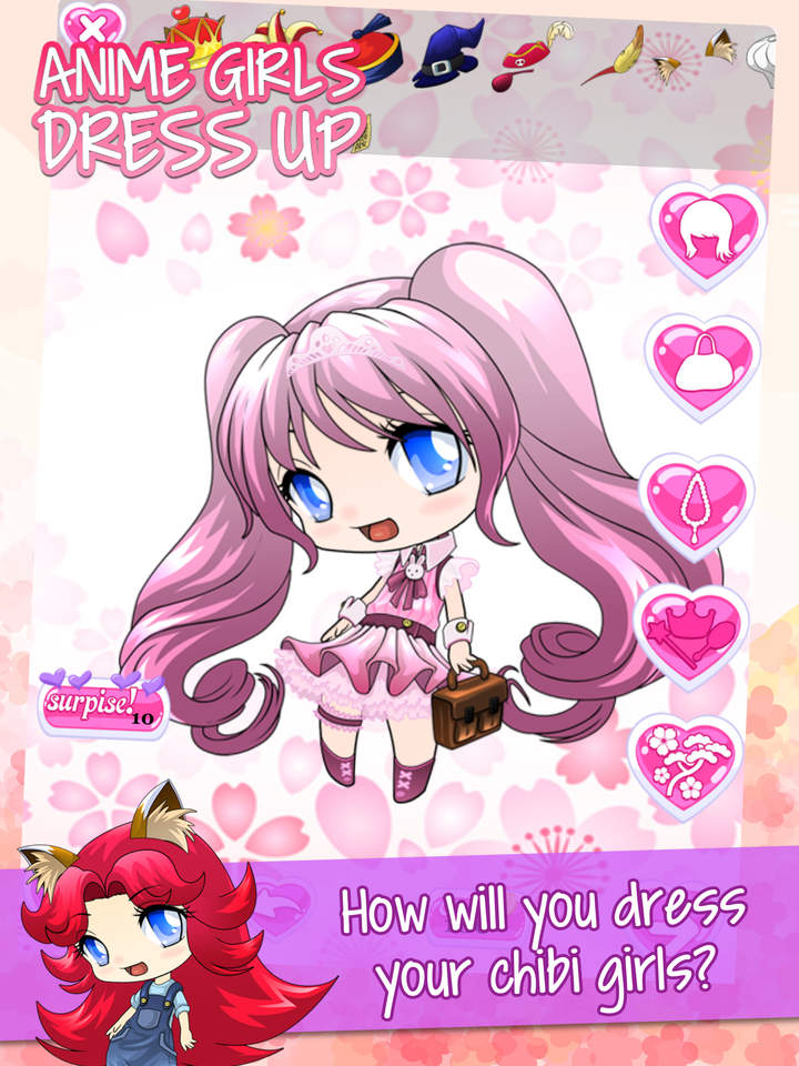 Cute Anime Dress-Up Games For Girls : Free Pretty Chibi Princess ...