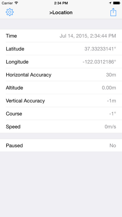 Core Location Info iPhone Screenshot 1
