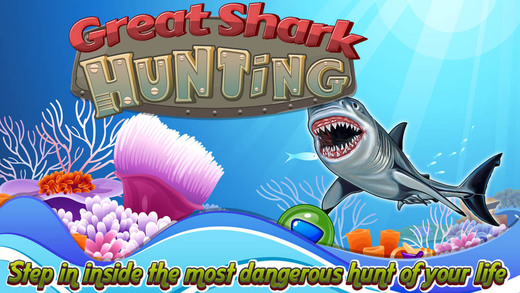 Angry Great Shark White: Hunting free game simulator