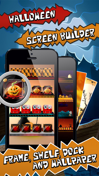 Halloween Screen Builder Wallpaper Maker for iOS 8 - Frame Shelve Dock HD Background