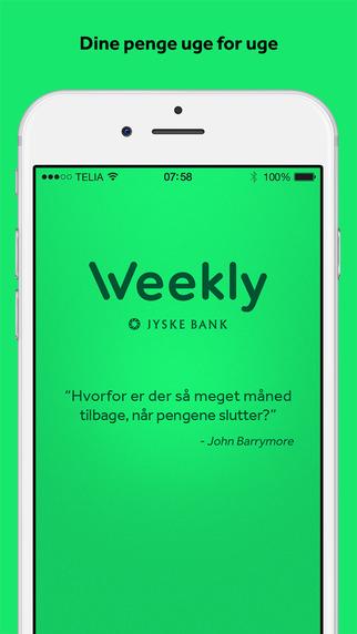 Weekly - dine penge uge for uge