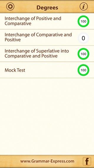 Grammar Express: Degrees iPhone Screenshot 1