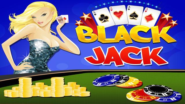 Backjack 21 Vegas Night Card Table