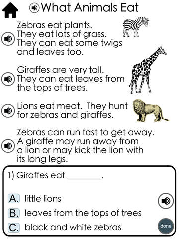 Reading Comprehension Passages with Multiple Choice Questions ~ Guided Reading Level E Free
