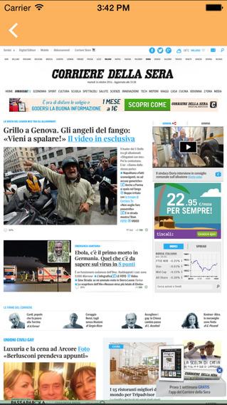 iTalian News iPhone Screenshot 2