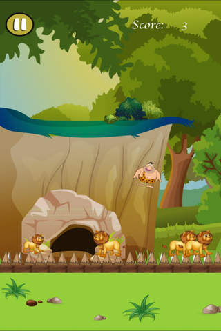 Crazy Caveman Jumping Rush - Addictive Jungle Rescue screenshot 1