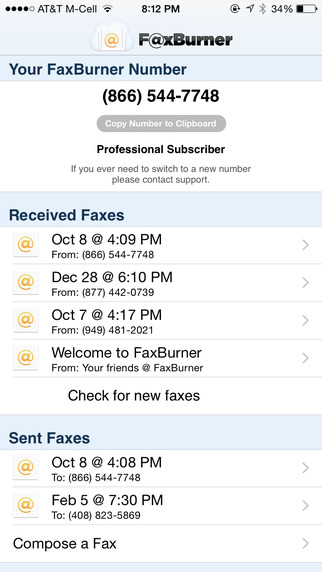 Fax Burner - Send Receive Faxes