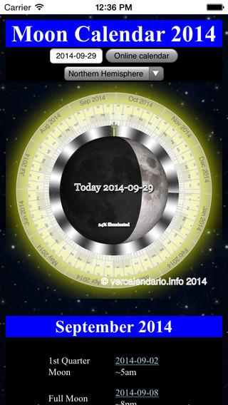 Moon Cycle Calendar