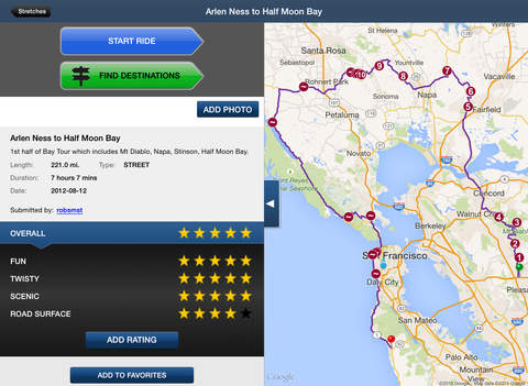 Greatest Road Motorcycle Rider GPS Road Finder iPad Screenshot 3